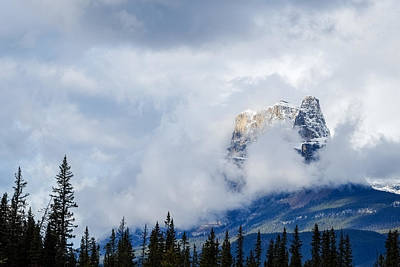 Photograph - Castle Mountain Emerges by John McArthur