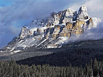 Photograph - Castle Mountain by George Cousins