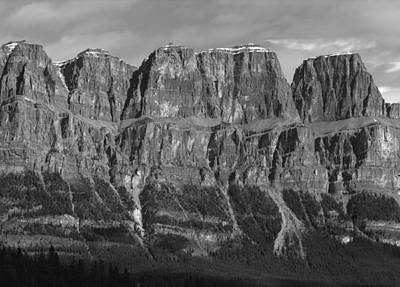 Photograph - 1m3350-b-bw-castle Mountain Ramparts by Ed  Cooper Photography