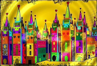 Castle Of Dreams By Nico Bielow Art Print