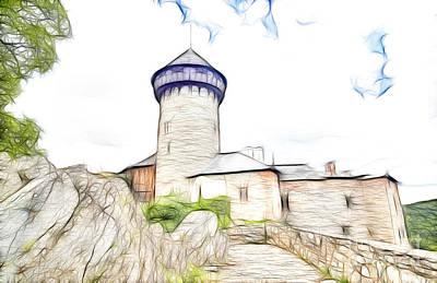 castle of the holy order - Sovinec castle Art Print by Michal Boubin