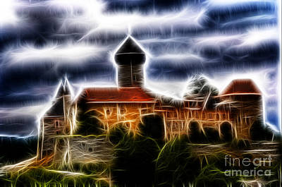Tourist Attraction Digital Art - castle of the holy order - Sovinec by Michal Boubin