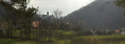 Dracula Photograph - Castle On A Hill, Bran Castle by Panoramic Images