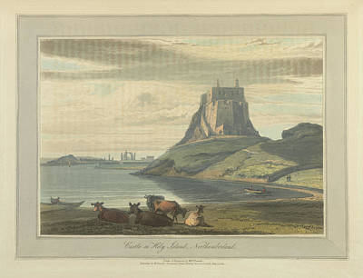 Castle On Holy Island Art Print by British Library