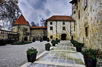 Famous Residents Photograph - Castle Otocec Yard by Ivan Slosar