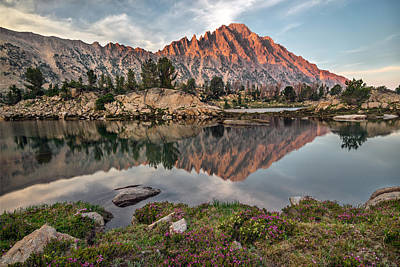 Photograph - Castle Peak Reflection by Leland D Howard