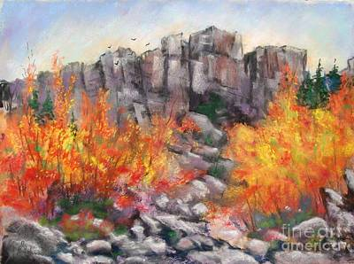 Castle Rock Art Print by Bruce Schrader