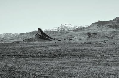 Castle Rock In Black And White Art Print