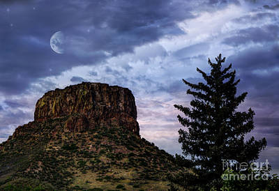 Hdr Landscape Photograph - Castle Rock by Juli Scalzi