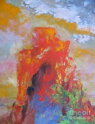 Painting - Castle Rock by Myra Maslowsky