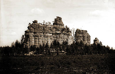 Douglass Drawing - Castle Rocks, Camp Douglass Sic, Wis, Rock Formations by Litz Collection