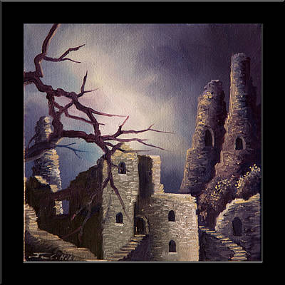 Scotland Painting - Castle Ruins Iv by James Christopher Hill