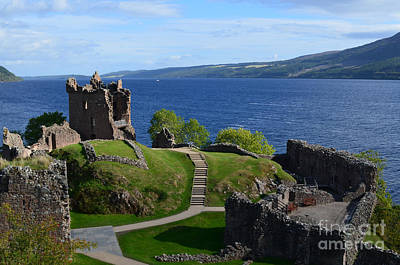 Castle Ruins On Loch Ness Art Print