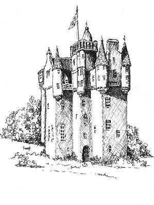 Castles Drawing - Castle by Sam Sidders