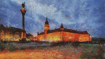 Castle Square In Warsaw Art Print