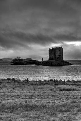 Photograph - Castle Stalker Bw by Gary Eason