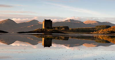 West Highland Digital Art - Castle Stalker - Sunset by Pat Speirs