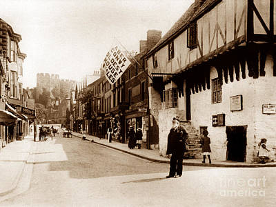 Vintage Conway Photograph - Castle Street Conway Wales by The Keasbury-Gordon Photograph Archive