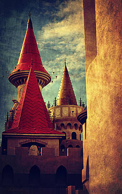 Building Exterior Digital Art - Castle Towers  by Maria Angelica Maira