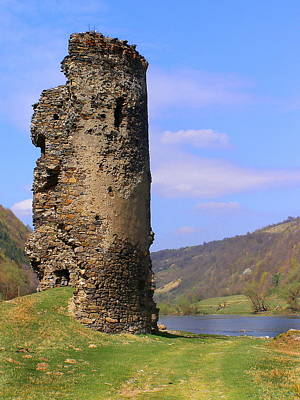 Photograph - Castle Wall Ruin by Tamyra Crossley