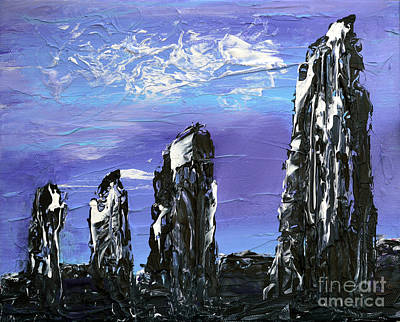 Ireland Painting - Castlenalact Standing Stones by Alys Caviness-Gober