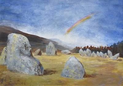 Monument Circle Painting - Castlerigg Stone Circle Uk by Nigel Radcliffe