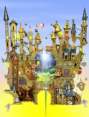 Scenery Digital Art - Castles In The Air  by Colin Thompson