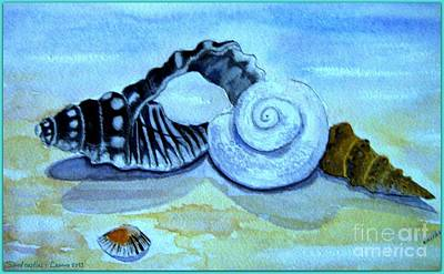 Art Print featuring the painting Castles In The Sand by Leanne Seymour