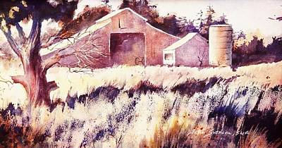 Art Print featuring the painting Castroville Barn by John  Svenson