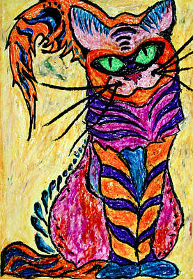 Pastel - Cat 3 by Carol Tsiatsios