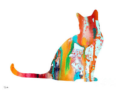 Cat 3 Art Print by Luke and Slavi