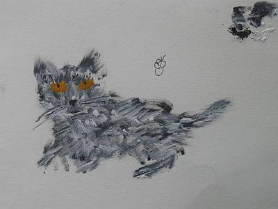 Painting - Cat by AJ Brown