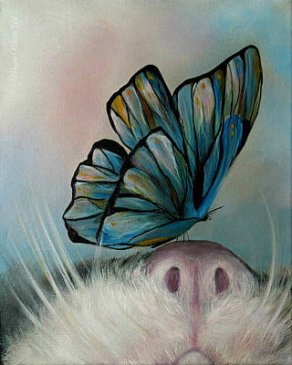 Cat And Butterfly Digital Art - Cat And Butterfly by Megan Morris