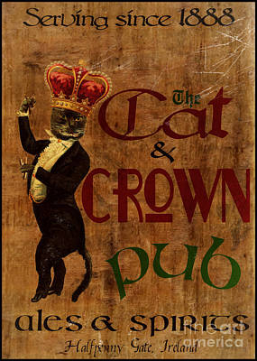 Cat And Crown Pub Art Print by Cinema Photography