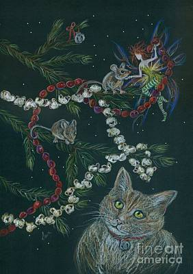 Cat And Mouse Art Print by Dawn Fairies