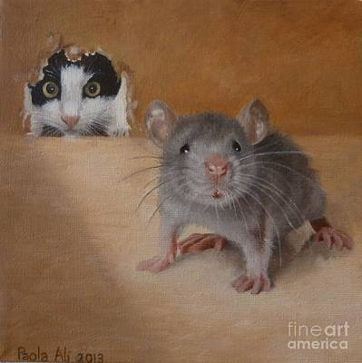 Cat And Mouse Original by Paola Ali