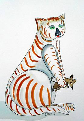 Rita Painting - Cat And Mouse by Rita Drolet