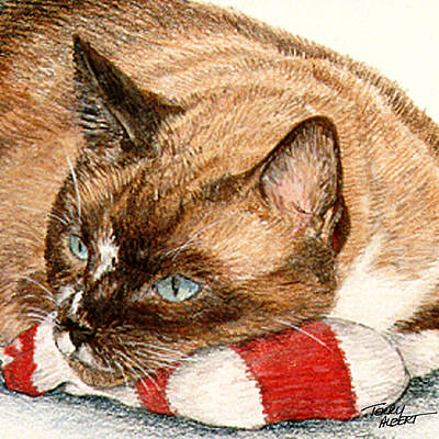 Painting - Cat And Toy by Terry Albert