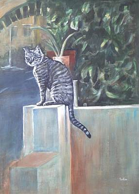 Basking Painting - Cat Basking In The Sun by Usha Shantharam