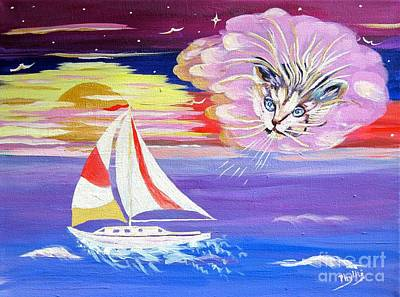 Painting - Cat Boat by Phyllis Kaltenbach