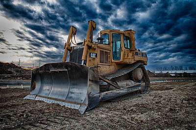 Cat Bulldozer Art Print
