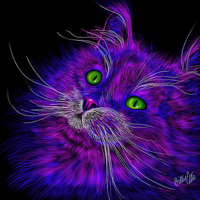 Animal Lover Digital Art - Cat Electric by Billie Jo Ellis