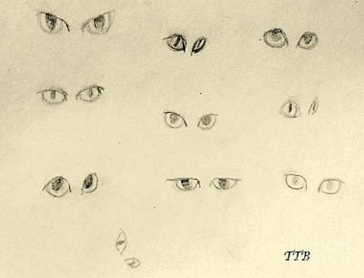 Cat Eyes -2 Art Print