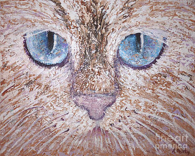 Painting - Cat Eyes by Audrey Peaty