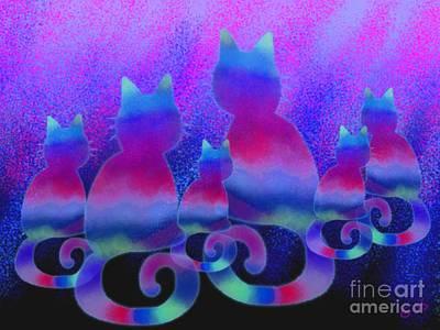 Pets Digital Art - Cat Family by Nick Gustafson