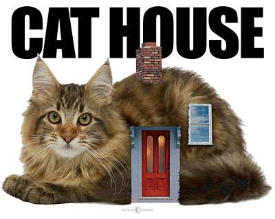 Digital Art - Cat House by Tim Nyberg