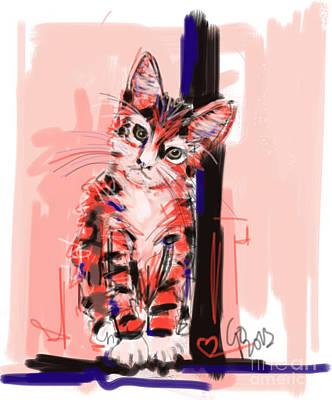 Cat I See You Art Print by Go Van Kampen