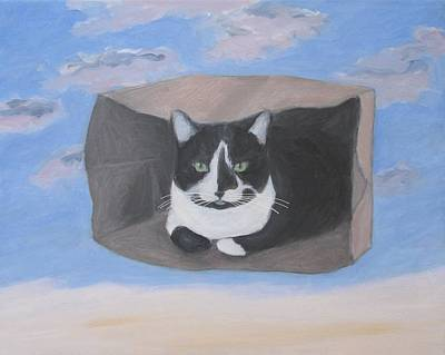 Painting - Cat In A Bag by Kazumi Whitemoon