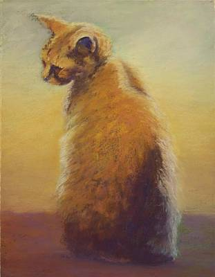 Painting - Cat In Contemplation by Sharon Lewis