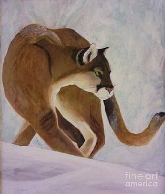 Painting - Cat In Snow by Christy Saunders Church